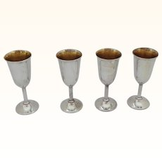 4 International Sterling Silver Lord Saybrook Stemmed Cordials