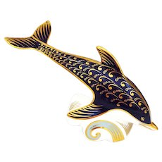 Royal Crown Derby Dolphin Figural Paperweight