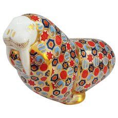 Royal Crown Derby Figural Paperweight Walrus