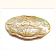 Hand Carved Chinese Mother of Pearl Pendant