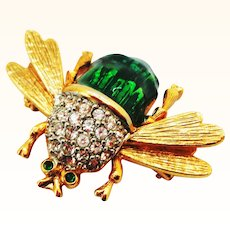 Signed Bee Bug Pin by Craft