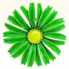 Cheery Fun Sunflower Pin - over 3 Inches