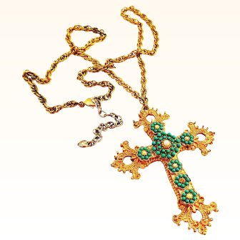 Large - Over 3 Inch Cross on Chain