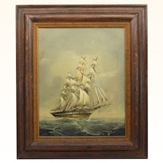 Nautical Oil Painting on Canvas Signed