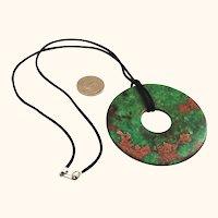 Spectacular Large Jade Bi Disk Donut Pendant