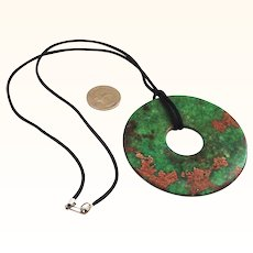 Spectacular Large Jade Bi Disk