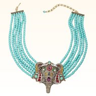 Heidi Daus Over the Top Chic Sheik Elephant Show Stopper Necklace