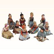 RARE Set of Royal Copenhagen Overglaze Polychrome Children of the Provinces Series