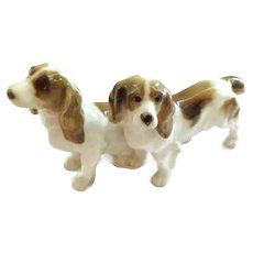 Adorable Hutschenreuther Pair of Spaniel Dogs 1873-1890