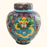 5 Claw Imperial Dragon with Pearl Cloisonne and Champleve
