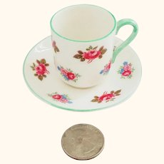 Shelley Rosebud MINIATURE Cup and Saucer