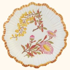 1888 Hand Painted Royal Worcester Botanical Floral Plate - Exquisite Gilding - #1