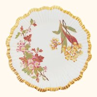 1888 Hand Painted Royal Worcester Botanical Floral Plate - Exquisite Gilding - #2