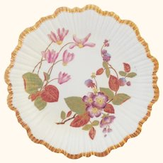 1888 Hand Painted Royal Worcester Botanical Floral Plate - Exquisite Gilding - #3