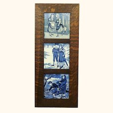 Complete 12 Piece Set of Wedgwood 19th Century Month Tiles Custom Framed
