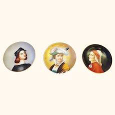 Dante and Raffaello plus Bonus 3 Hand Painted Portraits Plates