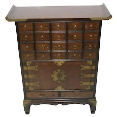 Compact Size Asian Apothecary or Spice Cabinet - Great for Any Room in House!
