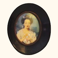 Hand Painted Framed Portrait of Beautiful Woman - Not on Ivory - Ludwig's Gallery Portrait