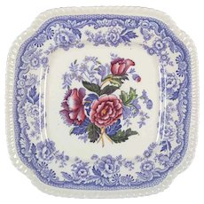 Old Spode Mayflower Square Luncheon Plate