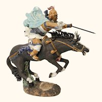 Dynamic Chinese Charging Warrior on Horse - Very Large!!