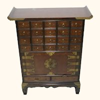 Asian Hardwood (Chinese/Korean) Apothecary Cabinet - Compact Size - Free Shipping for Local Pickup Only