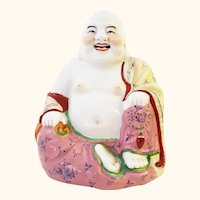 Famille Rose Chinese Happy Buddha
