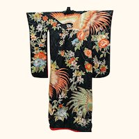 Kimono Japanese Majestic Elaborately Embroidered Ceremonial Wedding Kimono
