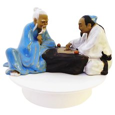 Chinese or Japanese Go Game Players Figurine