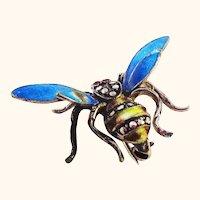 Bzzzz! Enamel on Sterling Bee Pin