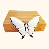 """2"""" Enamel on Sterling Silver Butterfly Pin Brooch"""