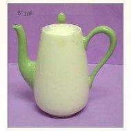 Lenox Green Mark Green & Cream Diminutive Sized Coffeepot