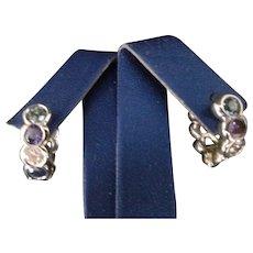 18K MISH of New York Sapphire & Diamond Earrings