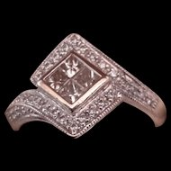 14K White Gold Multi-Diamond Ring