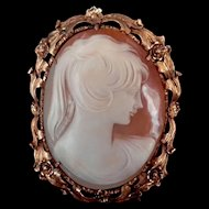 1920/1930s Cameo Pin/Pendant Set in 14K Gold