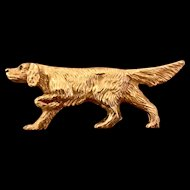 14K Gold Full Body Dog Pin
