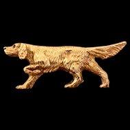 14K Gold Full Body Dog Pin