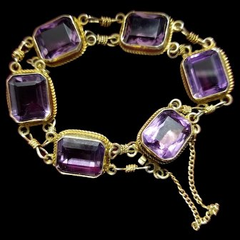 Vintage 14K Amethyst Bracelet