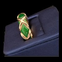 Tiffany 18K Enamel Ring
