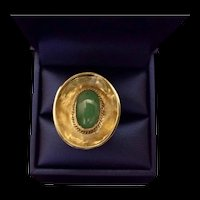 Handcrafted 14K Gold & Jade Ring