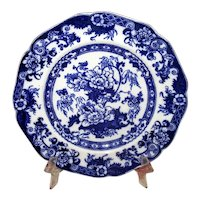 "English Flow Blue ""Bentick"" Plate"