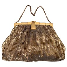 Vintage Whiting & Davis Gold-Mesh Handbag