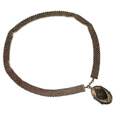 Victorian Gold-Filled Fancy Chain Necklace with Locket