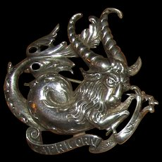 Cini Sterling Zodiac Capricorn Pin