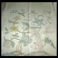 Exquisitely Quilted Bird of Paradise Quilt