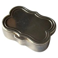 Sterling Silver Pillbox with Scalloped Edge