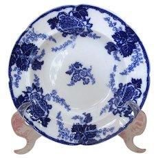 """9 1/2"""" Cauldon """"Messina"""" Flow Blue Soup Bowl"""