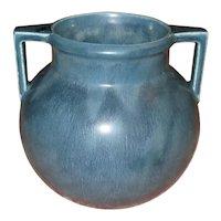 Blue Double-Handled Rookwood Art Pottery Vase
