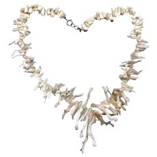 White Branch Coral Necklace