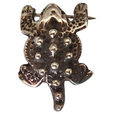Native American Sterling Horned Toad Pin