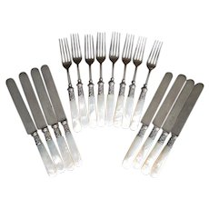 16 Piece Set of Mother-of-Pearl Handled Cutlery